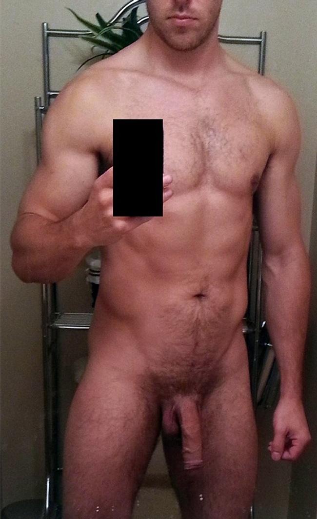 Naked flaccid gay man outdoors hot public