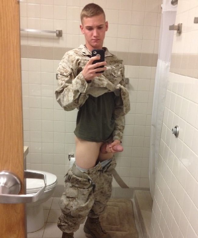 Army Boy Jerk Off