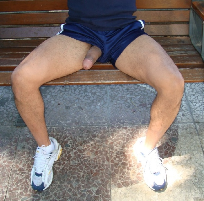 Cock Out Of Shorts