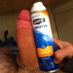 Man Comparing His Cock To A Can