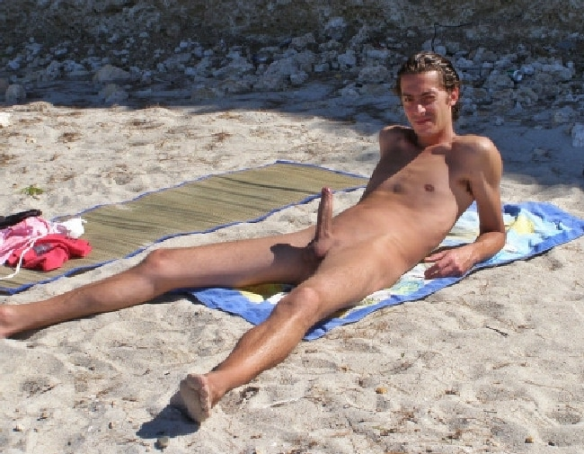 hard cock on nudebeach