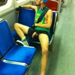 Man On A Train Having His Cock Out