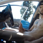 Nude Man Jerking Off In A Car