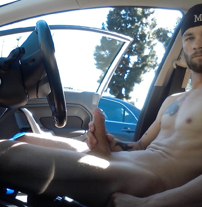 Wanking In Car