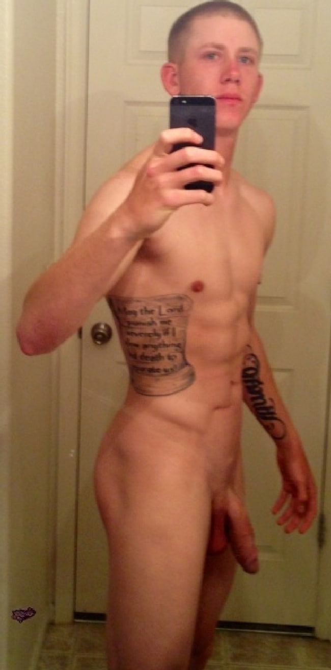 Tattooed Nude Guy With A Very Big Cock - Just Cock Pictures